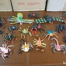 Figuras de Goma y PVC: LOTE DE 20 ARAÑAS Y ESCORPIONES DE PLÁSTICO Y PVC. Lote 128769603