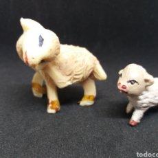 Figuras de Goma y PVC: ANTIGUAS FIGURAS PARA BELÉN. OVEJAS. PLÁSTICO. PECH/ OLIVER. Lote 128785307