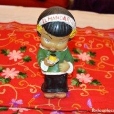 Figuras de Goma y PVC: MUÑECA - CHINITA - FLAN CHINO - EL MANDARIN - AÑOS 60 - VERDE. Lote 128928039