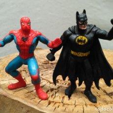 Figuras de Goma y PVC: LOTE 2 FIGURAS PVC SUPERHEROES SPIDERMAN BATMAN MARVEL DC COMICS SPAIN VINTAGE AÑOS 80. Lote 129083251