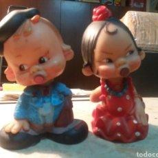 Figuras de Goma y PVC: PAREJAS DE MUÑECOS DE GOMAS J.J. ONIL ALICANTE.. Lote 129111656