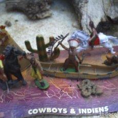 Figuras de Goma y PVC: CAMPAMENTO INDIO FIGURAS DE GOMA. Lote 129368543