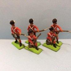 Figuras de Goma y PVC: BRITAINS 54MM: WATERLOO NAPOLEONICOS INGLESES 2 , REAMSA, JECSAN. Lote 129368807