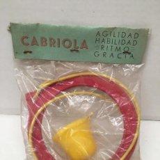 Figuras de Goma y PVC: ANTIGUO JUGUETE JEGO DE HABILIDAD CABRIOLA AÑOS 60. Lote 129568103