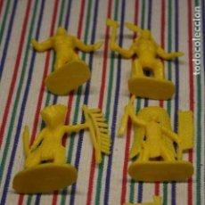 Figuras de Goma y PVC: 6 INDIOS MADE IN CHINA. Lote 129581363