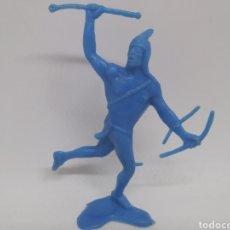 Figuras de Goma y PVC: ANTIGUA FIGURA DEL OESTE EN PLASTICO. GUERRERO INDIO. 90 MM. Lote 129733763