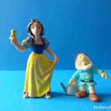 Figuras de Goma y PVC: FIGURAS DE BLANCANIEVES Y ENANITO - BLANCANIEVES Y LOS SIETE ENANITOS - WALT DISNEY. Lote 129974315
