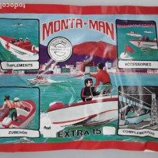 Figuras de Goma y PVC: SOBRE MONTA MAN EXTRA 15 LANCHA FIGURA MONTAMAN MONTAPLEX MONTA PLEX CERRADO. Lote 129980971