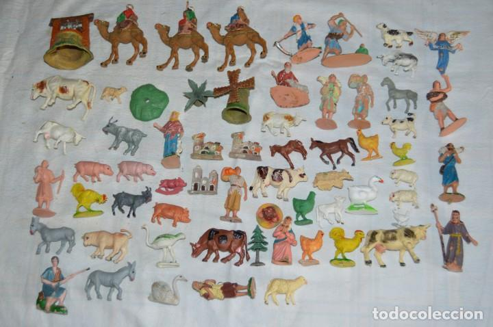 VINTAGE - LOTAZO - FIGURAS Y ACCESORIOS BELEN - OLIVER, PUIG, PECH, REAMSA, GOMARSA - ¡MIRA! - L1 (Juguetes - Figuras de Goma y Pvc - Pech)