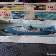 Figuras de Goma y PVC: SUBMARINO ATÓMICO RANETTA SA-107 CON CAJA MADE IN SPAIN AÑOS 70S. Lote 130116723