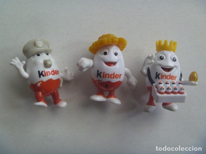 LOTE DE 3 FIGURAS DE KINDER : HUEVOS KINDER (Juguetes - Figuras de Gomas y Pvc - Kinder)
