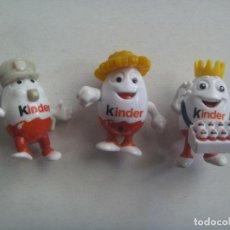 Figuras Kinder: LOTE DE 3 FIGURAS DE KINDER : HUEVOS KINDER. Lote 130231526