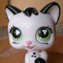 Figuras de Goma y PVC: FIGURA LPS LITTLEST PET SHOP HASBRO 2005 GATO CAT MÁGIC EYES MOVING 493. Lote 153823686
