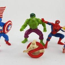 Figuras de Goma y PVC: LOTE PVC SUPER HÉROES CAZAFANTASMAS. Lote 130884313
