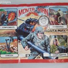 Figuras de Goma y PVC: SOBRE MONTA MAN EXTRA 4 GUERRA FIGURA MONTAMAN MONTAPLEX MONTA PLEX CERRADO. Lote 183023876