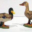 Figuras de Goma y PVC: PAREJA DE ÁNADES REALES. Lote 131015384