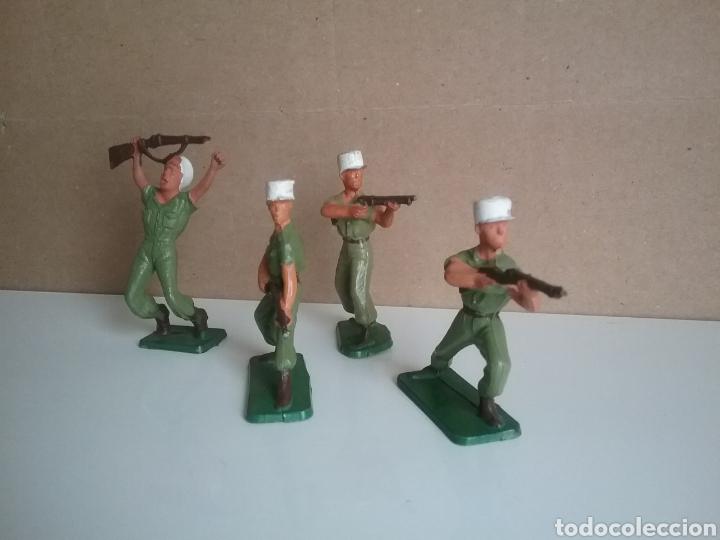 Figuras de Goma y PVC: Legión extranjera francesa, Starlux Francia, soldados legionarios 2 guerra mundial tamaño britains - Foto 3 - 131063565