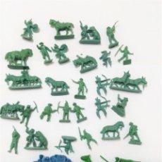 Figuras de Goma y PVC: LOTE INDIOS Y VAQUEROS MONTAMAN MONTAPLEX. Lote 131092956