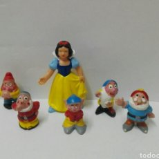Figuras de Goma y PVC: LOTE FIGURAS DISNEY BLANCANIEVES BULLYLAND ENANITOS HEIMO PECH HERMANOS ENANOS PRINCESAS. Lote 131098023