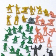 Figuras de Goma y PVC: LOTE SOLDADOS INDIOS MONTAMAN MONTAPLEX DUNKIN. Lote 131111120