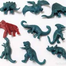 Figuras de Goma y PVC: LOTE DINOSAURIOS MONTAMAN MONTAPLEX DUNKIN. Lote 131111252