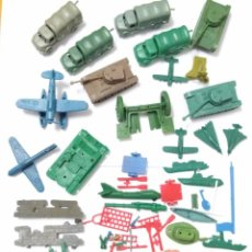 Figuras de Goma y PVC: LOTE CAMIONES TANQUES AVIONES MONTAMAN MONTAPLEX DUNKIN. Lote 131111972