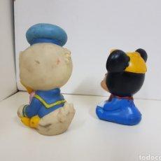 Figuras de Goma y PVC: MUÑECOS DE GOMA CON PITO DISNEY BEBÉ DONALD BEBÉ MICKEY. Lote 131181556