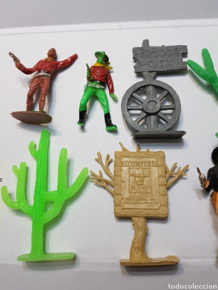 Figuras de Goma y PVC: Lote Comansi de la serie Bonanza - Foto 2 - 131296742