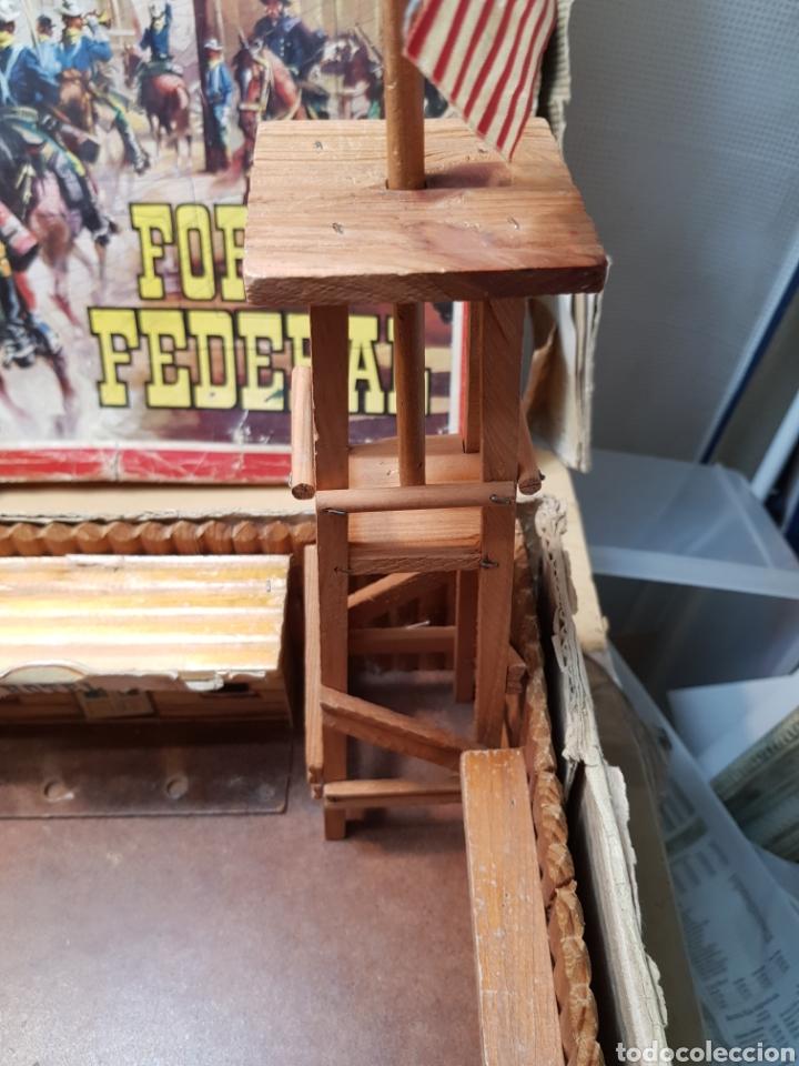 Figuras de Goma y PVC: Fort Federal de Comansi primera edición totalmente de madera muy raro y escaso - Foto 3 - 131298187