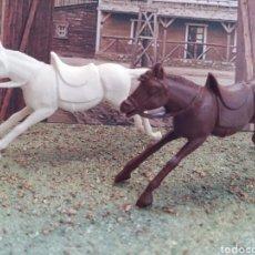 Figuras de Goma y PVC: ANTIGUAS FIGURAS DEL OESTE. CABALLOS COWBOY. MODELOS REAMSA. CANAL PIPERO. PLASTICO.. Lote 106193850