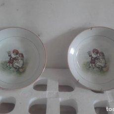 Figuras de Goma y PVC: ANTIGUOS PLATOS ONDOS DE OVIEDO. Lote 131452766
