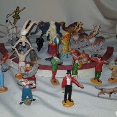 Figuras de Goma y PVC: LOTE DE FIGURAS DE CIRCO JECSAN / ARCHER AÑOS 40 / 50 PINTURA EN BUEN ESTADO. Lote 131491761