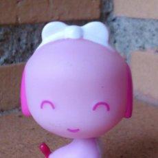 Figuras de Goma y PVC: FIGURA PVC PERRO ROSA MINIATURA . Lote 131509762