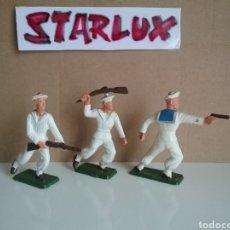 Figuras de Goma y PVC: MARINEROS, SOLDADOS DE MARINA, STARLUX FRANCIA, GENUINOS AÑOS 50/70 EN TAMAÑO BRITAINS APROX.. Lote 131636057