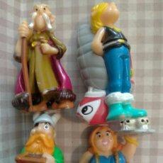 Figuras Kinder: LOTE 4 FIGURAS ASTÉRIX JEFE IMUJER HUEVOS KINDER. Lote 131663986