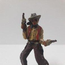 Figuras de Goma y PVC: VAQUERO - COWBOY CON PISTOLAS . FIGURA REAMSA Nº 59. AÑOS 50 EN GOMA. Lote 131734794