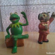 Figuras de Goma y PVC: FIGURA PVC RANA GUSTAVO Y GONZO MUPPETS BARRIO SESAMO. Lote 131900710