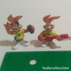 Figuras de Borracha e PVC: LEER** MUÑECO FIGURA NESQUICK NESQUIK NESTLE QUICKY FIGURAS MUÑECOS PVC NO BULLYLAND MASCOTA. Lote 130558302