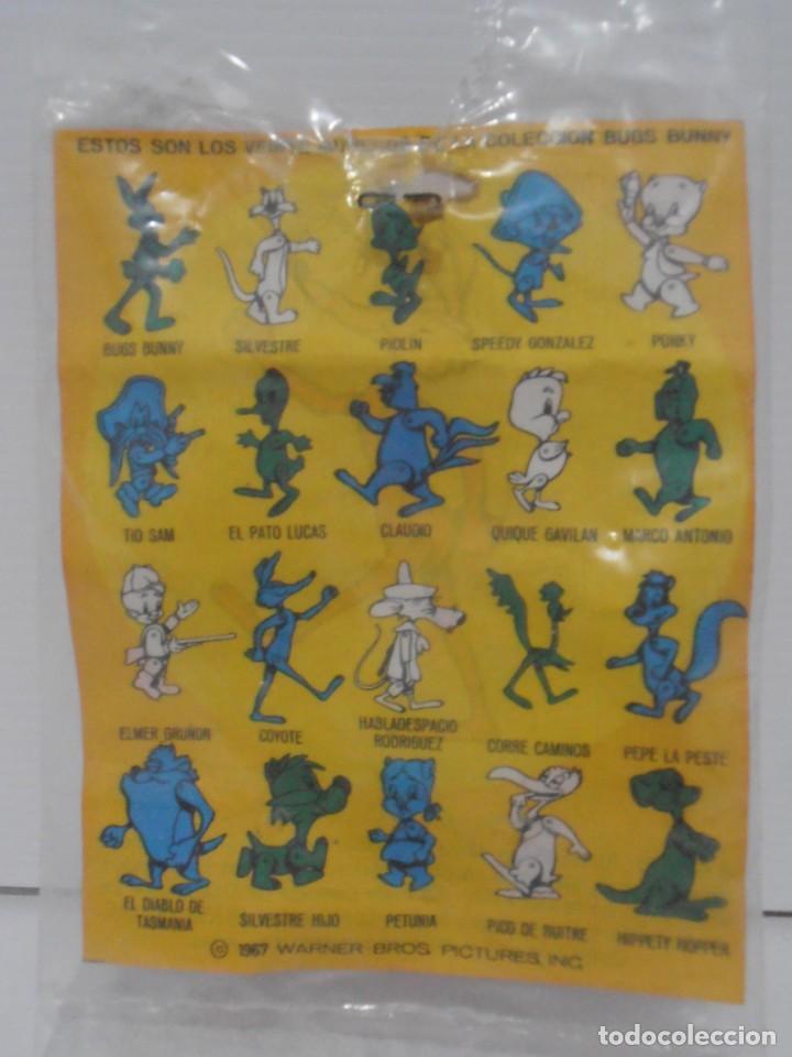 Figuras de Goma y PVC: FIGURA PROMOCIONAL WARNER DETERGENTE OMO, COYOTE, BOLSA ORIGINAL, DUNKIN - Foto 4 - 132078802