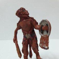 Figuras de Goma y PVC: GUERRERO INDIO . SERIE AZTECAS . REALIZADO POR PECH . AÑOS 50 EN GOMA. Lote 132186222