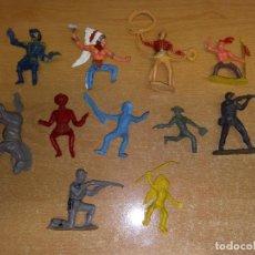 Figuras de Goma y PVC: LOTE DE ANTIGUAS FIGURAS COMANSI ROMASA INDIO VAQUEROS SOLDADOS. Lote 132261014