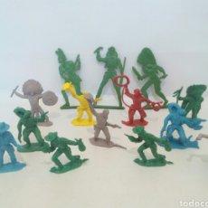 Figuras de Goma y PVC: COMANSI LOTE INDIOS Y VAQUEROS. Lote 132273933