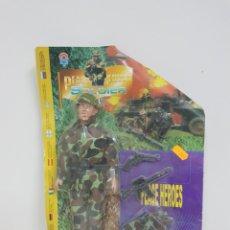 Figuras de Goma y PVC: HÉROES SOLDADOS DE PAZ MEDIDAS 28 X 11 CM. Lote 132290665