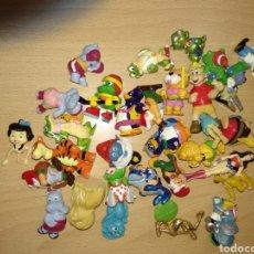 Figuras Kinder: LOTE FIGURAS KINDER AÑOS 80 Y 90 RANAS LEONES PLOMO ASTERIX GNOMOS. Lote 104600019