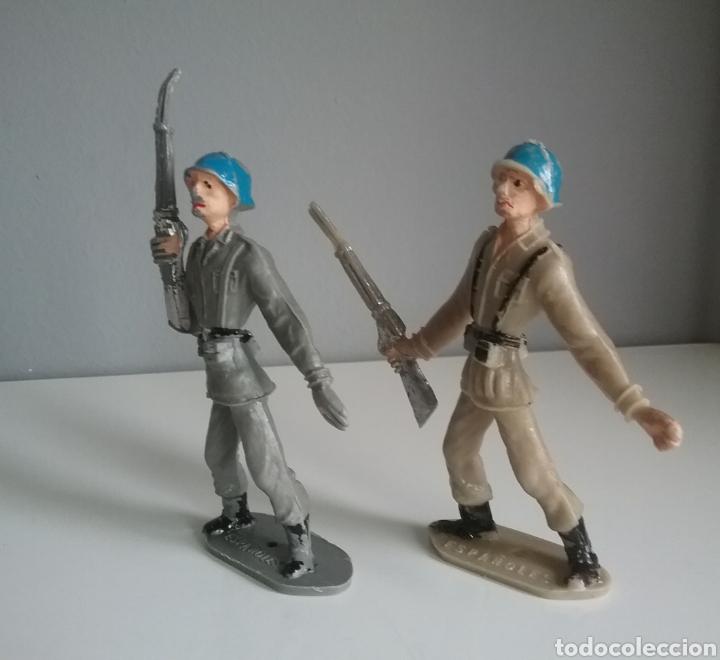 Figuras de Goma y PVC: Soldados españoles cascos azules, COMANSI, Ejércitos del mundo, años 70 2a época - Foto 2 - 132477205