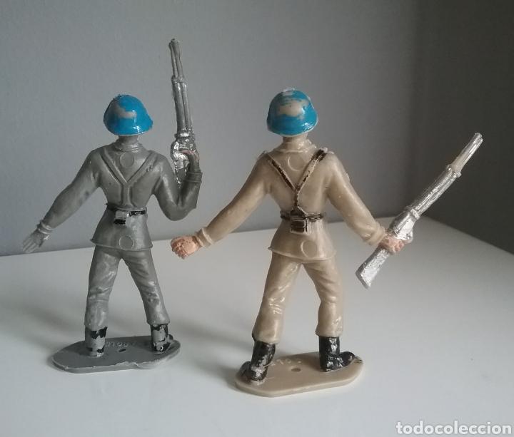 Figuras de Goma y PVC: Soldados españoles cascos azules, COMANSI, Ejércitos del mundo, años 70 2a época - Foto 3 - 132477205