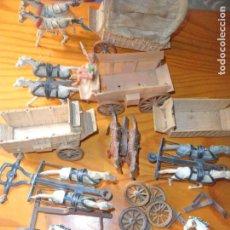 Figuras de Goma y PVC: LOTE DE DILIGENCIAS - CARROS Y CARRETAS DE COMANSI - VER FOTOS.... Lote 132482614