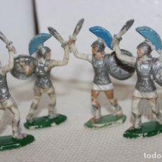 Figuras de Goma y PVC: 4 SOLDADOS CARTAGINESES LA BATALLA DEL METAURO. Lote 132485770