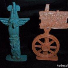 Figuras de Goma y PVC: ACCESORIOS VAQUEROS E INDIOS- FIGURA 60'S. Lote 132489402