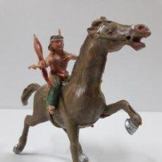 Figuras de Goma y PVC: PLUMITA A CABALLO . REALIZADO POR ESTEREOPLAST . AÑOS 60. Lote 132508594